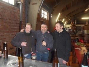 Kuaska con  Yvan de Baets e Bernard Leboucq (Brasserie de la Senne)
