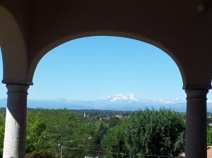 Vista sul Monte Rosa dalla terrazza del Siebter Himmel