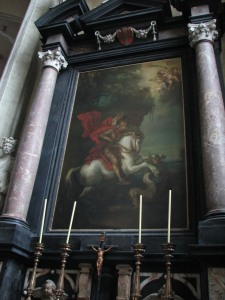 Saint George and the Dragon, by Anthony van Dyck, Church of St. Jacobs