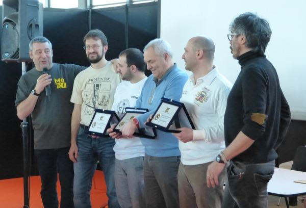 La premiazione del Campionato HB 2013 a Rimini