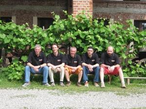 Il team del Rurale: da sin, Beppe Serafini, Lorenzo Guarino, Silvio Coppelli, Marco Caccia e Stefano Carnelli.