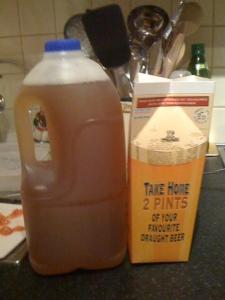 La birra take-away