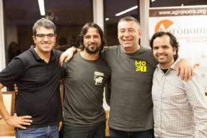 I tre giudici da sin: Ferrán Centelles, Sergio Ruiz, Kuaska con l'ideatore Guillem Laporta