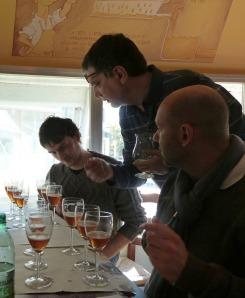 Due dei taster, Gianriccardo e Egidio, al lavoro insieme a Max Faraggi